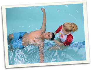 swimming course packages - illustration of a swimming pool