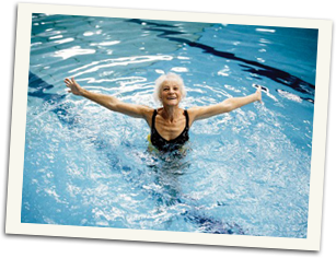 swimming course packages - illustration of a mature swimmer